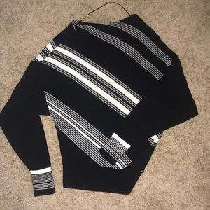 Free People black and white striped sweater!